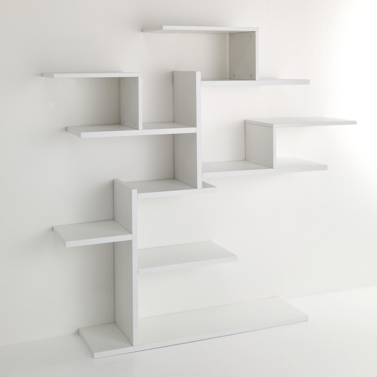 Libreria ad albero plant da parete in legno bianco 150 x for Cubi da parete ikea