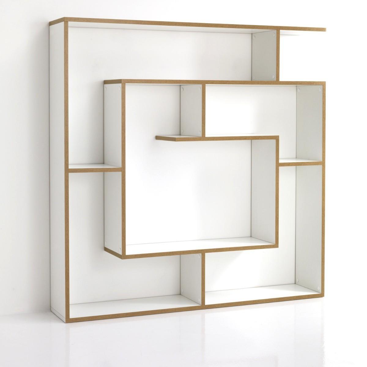 Libreria parete chiocciola in legno bianco poro aperto 130 for Oggetti da parete design