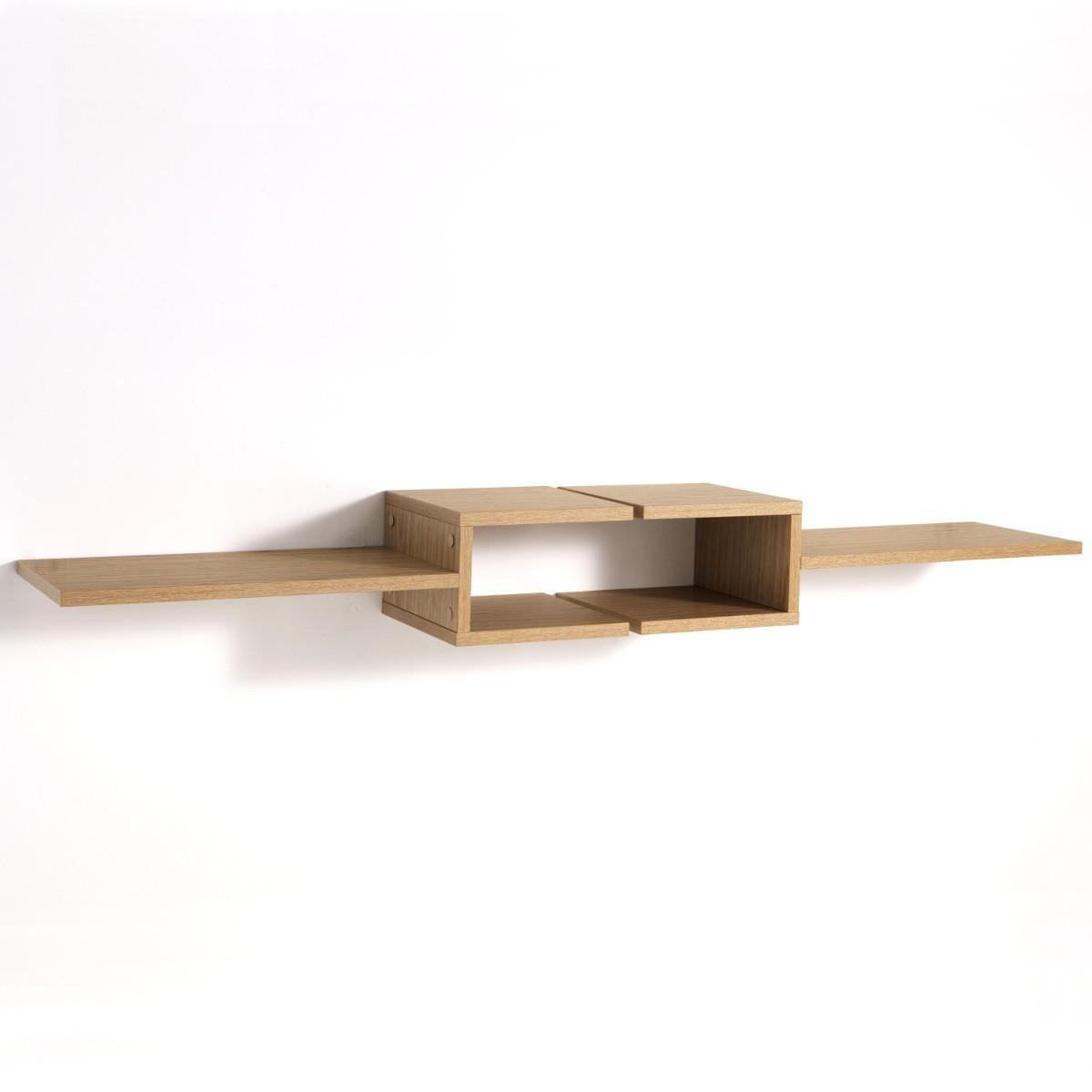 Coppia mensole design FrequencyL in legno rovere 75 cm