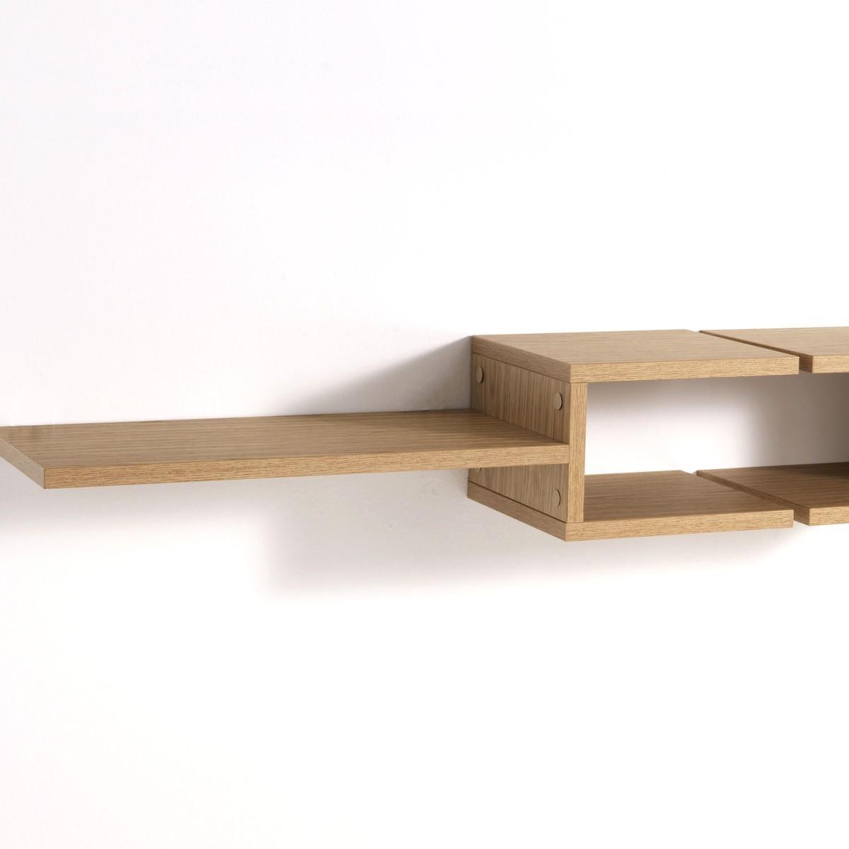 Coppia mensole design DiapasonL in legno rovere 75 cm