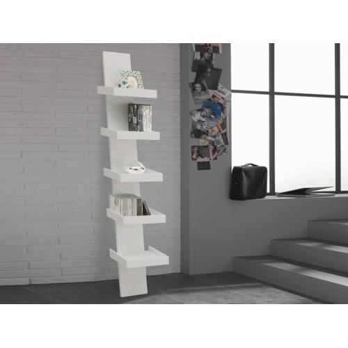 Step libreria da parete in legno librerie moderne economiche for Librerie divisorie economiche