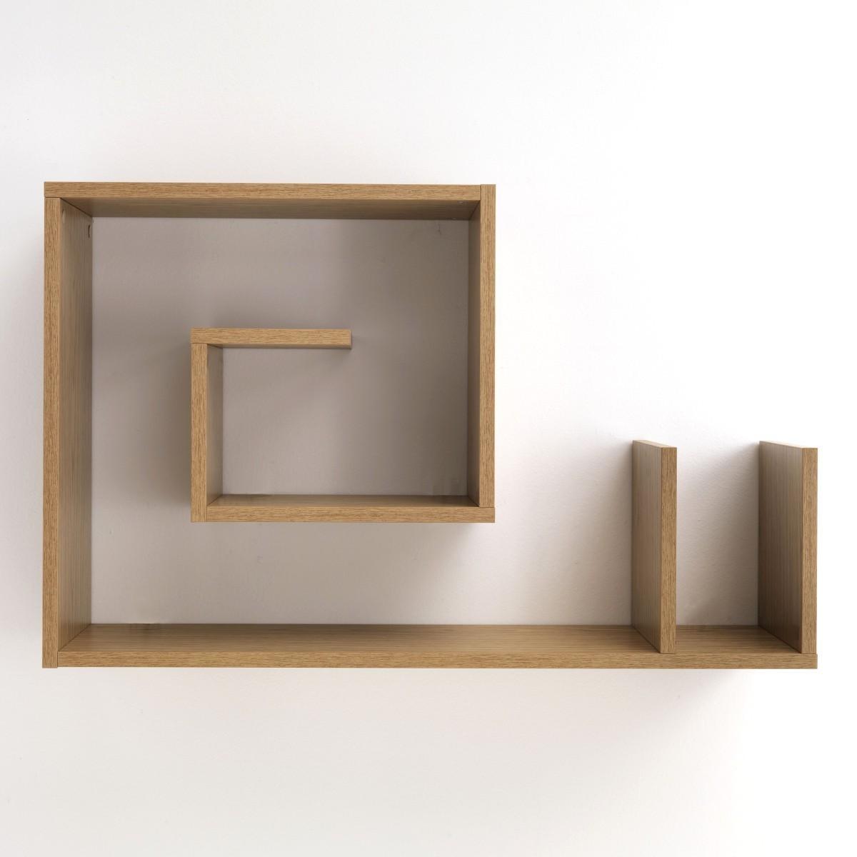 Mensola a muro Snail W legno rovere 90 x 56 cm a forma di chiocciola