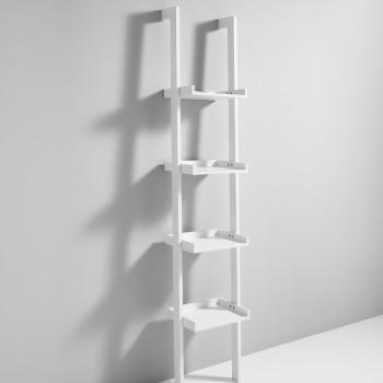 Libreria da parete a colonna Little Kross in legno bianco 35 x 180 cm
