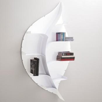 Blatt libreria da parete moderna in metallo bianca