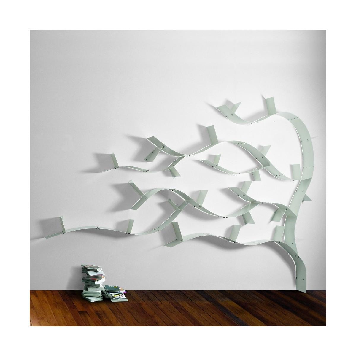 Libreria ad albero wallboardingc in acciaio con mensole - Mensole da parete design ...