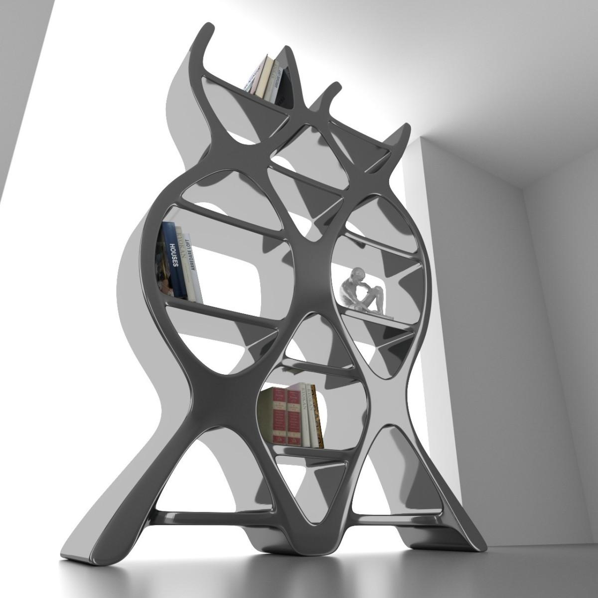 Libreria scaffalatura dna design in adamantx bianco rosso nero for Librerie di design famosi