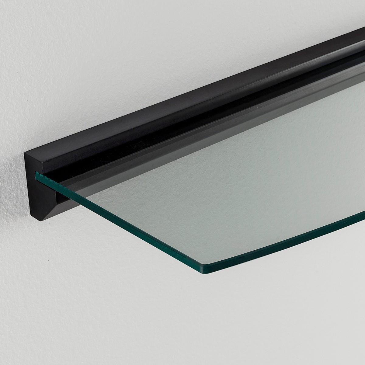 Coppia di mensole avalon in vetro e legno 60 cm - Mensole vetro ikea ...
