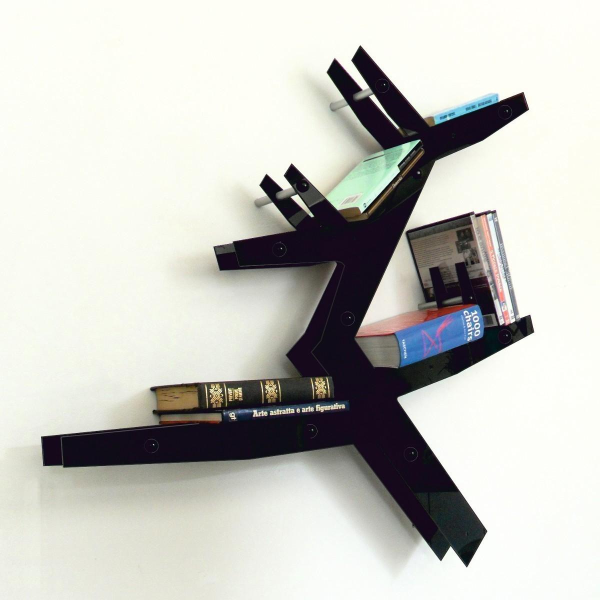 Libreria da parete plextree in metacrilato a forma di albero - Libreria a parete ...