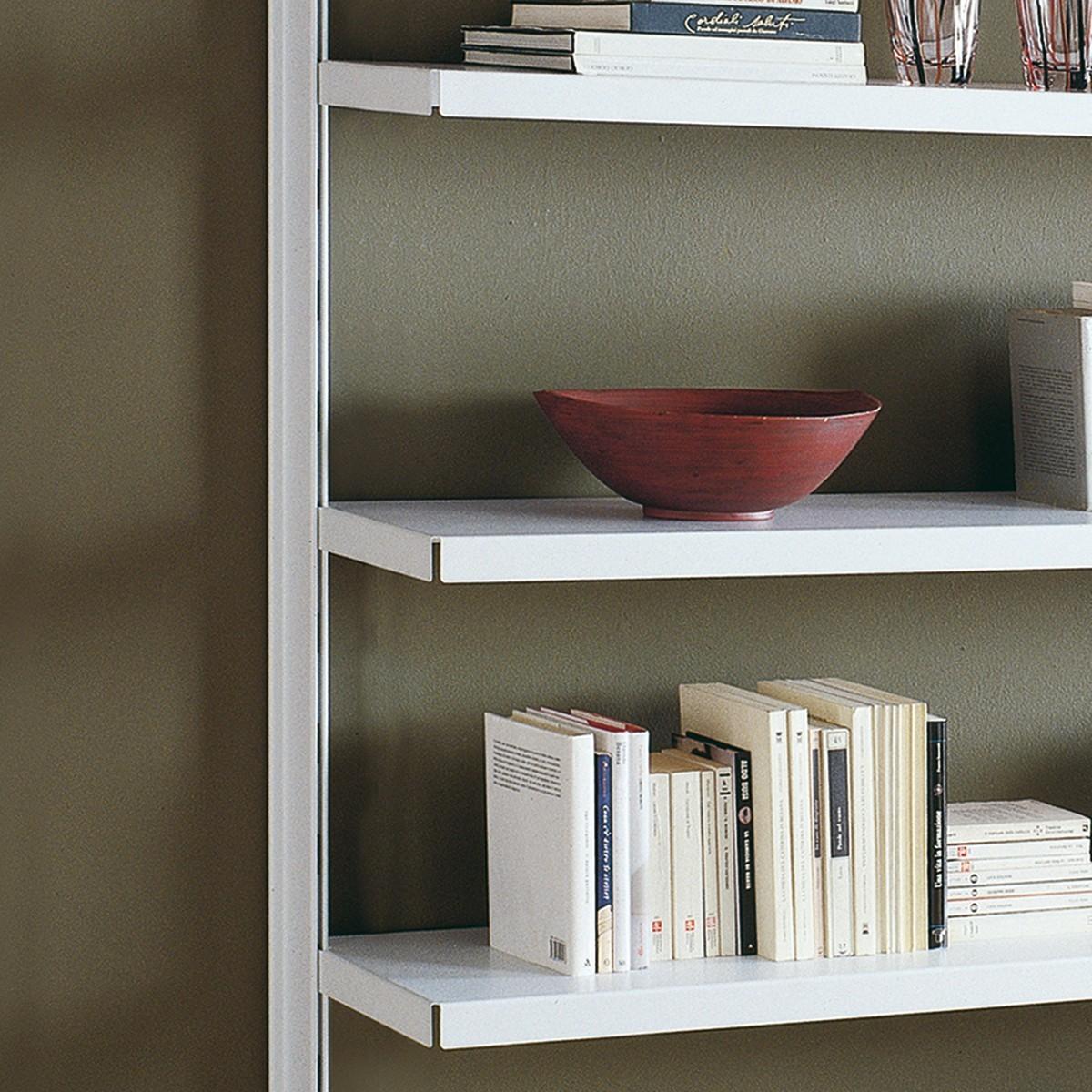 Scaffale in metallo viggo da parete per soggiorno 485 x 32 for Scaffali da ufficio