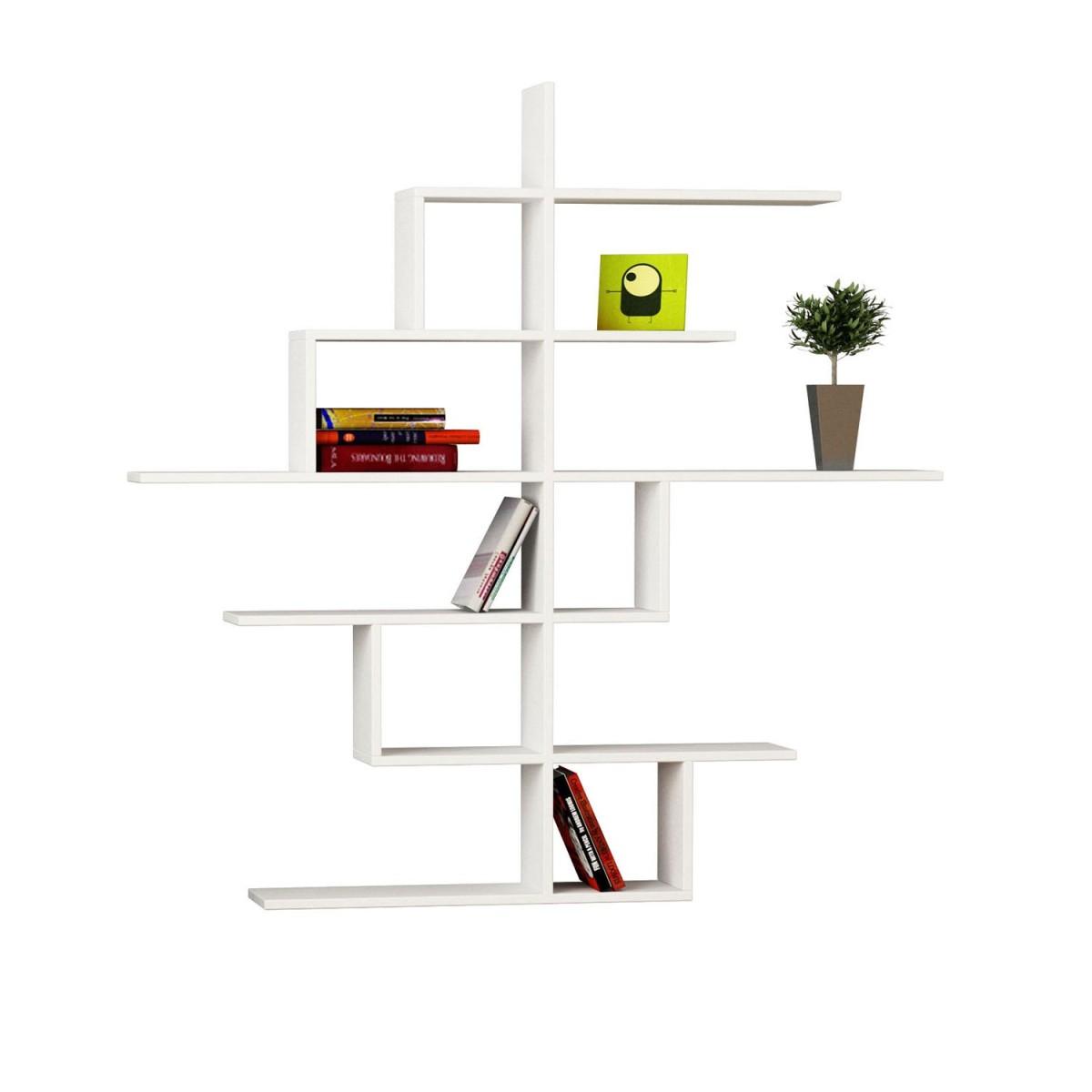 Durban libreria a muro design moderno in legno 150 x 150 cm for Mensole libreria
