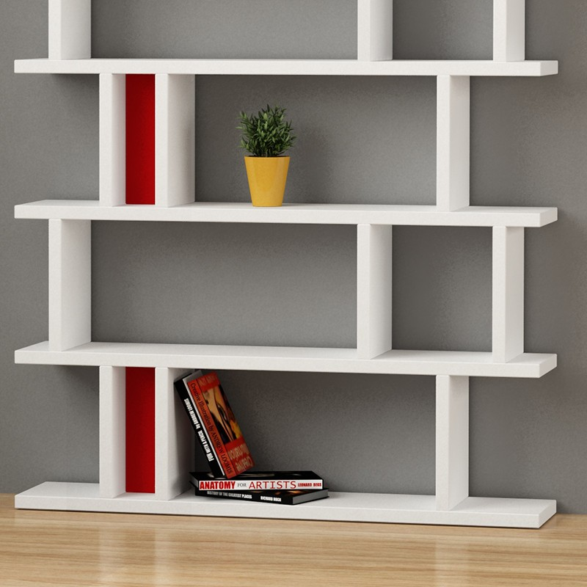 Kendal libreria design soggiorno bianca in legno e plexiglass for Libreria salotto