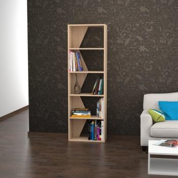 Styley libreria design verticale in legno nobilitato Bianco Nero Rosso Noce