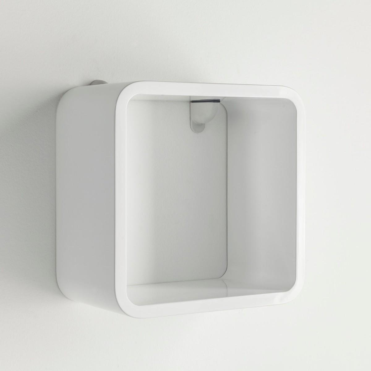 Kubetto set 3 cubi mensola da parete in legno bianco for Cubi da parete ikea