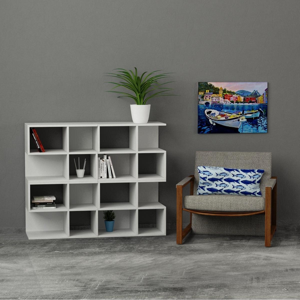 Premiere libreria componibile modulare design 130x108cm for Librerie in legno componibili