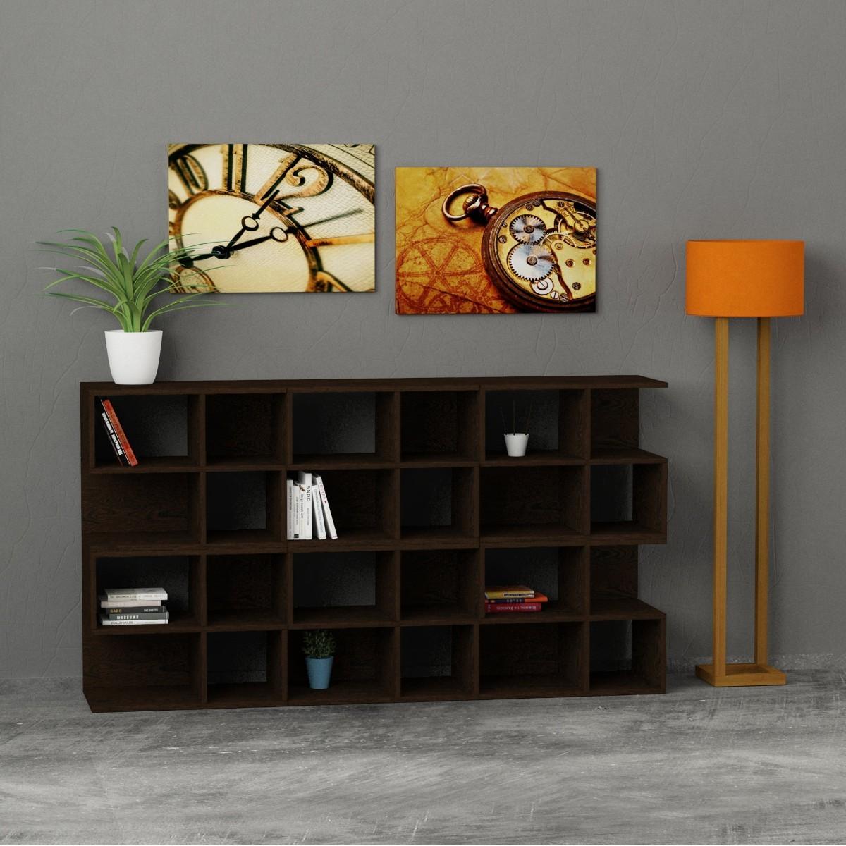 Premiere libreria da soggiorno in legno a forma di scala - Soggiorno in legno ...