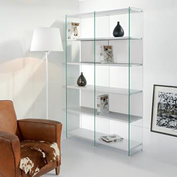 Byblos5 libreria separa ambienti autoportante bifacciale 120 x 200 cm