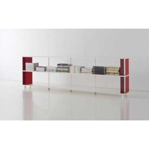 Libreria componibile in legno per dividere ambienti for Scaffale legno componibile