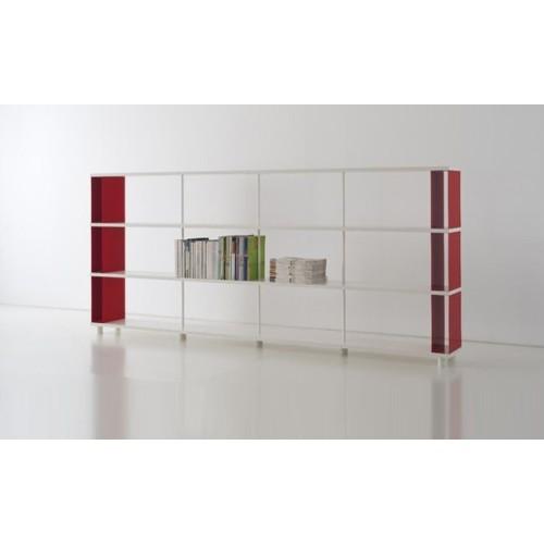 Scaffalatura in legno e metallo p c3 per ufficio 300x30x130 cm for Scaffalatura libreria