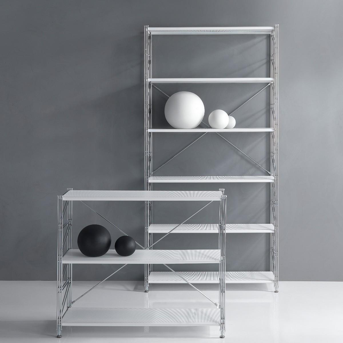 Librerie componibili in acciaio: come creare scaffali e ...