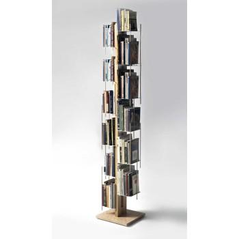 Libreria colonna in legno naturale o nero Zia Veronica