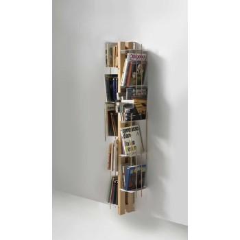 Zia Veronica libreria da parete in legno naturale 155 cm