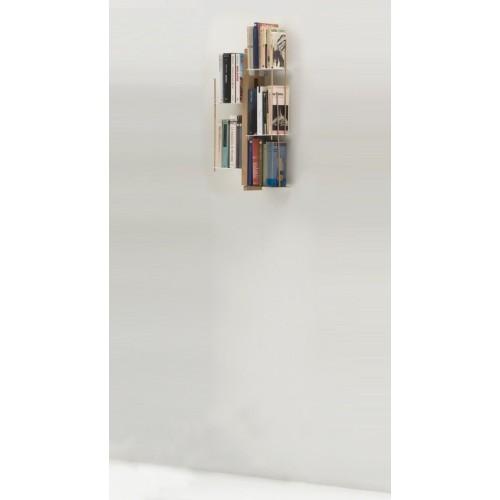 Libreria sospesa a muro in legno e metallo Zia Veronica