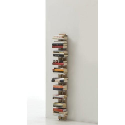 Libreria da muro verticale in legno naturale o nero Zia Ortensia
