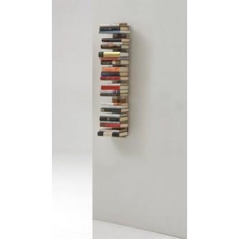 Libreria sospesa a muro in legno naturale o nero Zia Ortensia