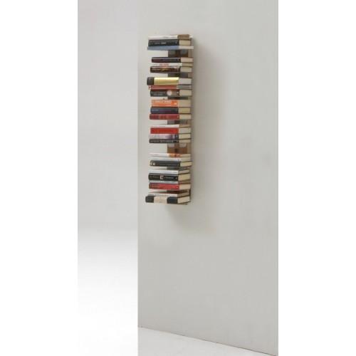 Zia Ortensia libreria sospesa a muro in legno naturale nero 115 cm