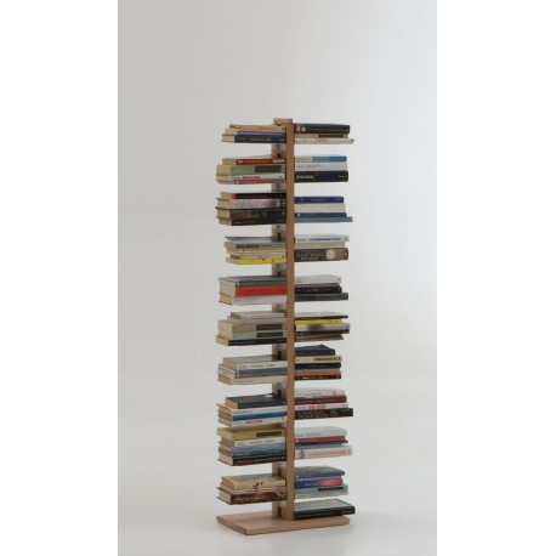 Libreria a colonna da terra in legno naturale o nero Zia Bice