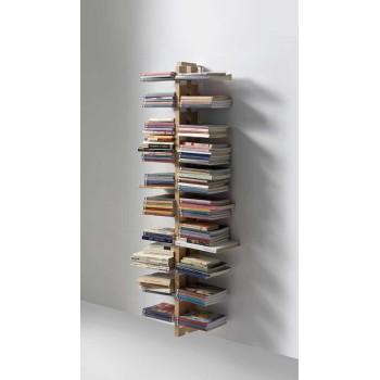 Zia Bice libreria da muro pensile in legno massello 155 cm