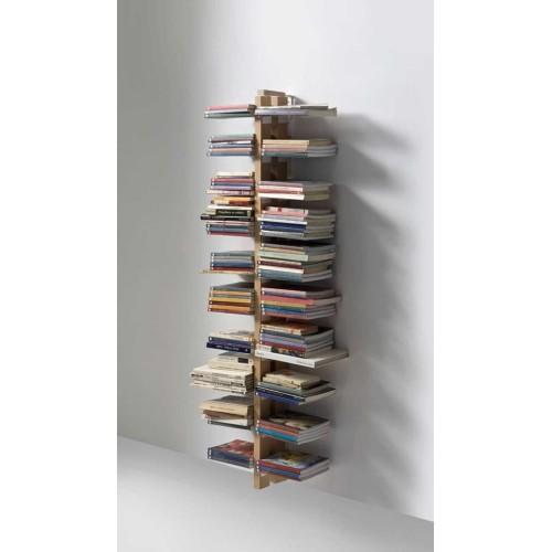 Libreria da muro pensile in legno massello naturale o nero Zia Bice