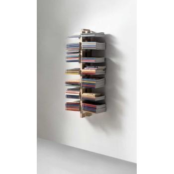 Libreria sospesa a parete in legno massello Zia Bice