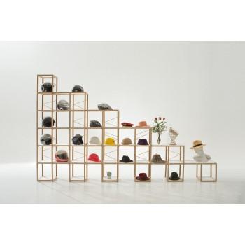 Scaffale per negozio in legno massello naturale Castelli 8