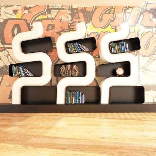 Libreria design moderno con scaffali metallici SerP ZADItaly
