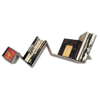 Zig Zag mensola design in acciaio verniciato 100 x 25 cm