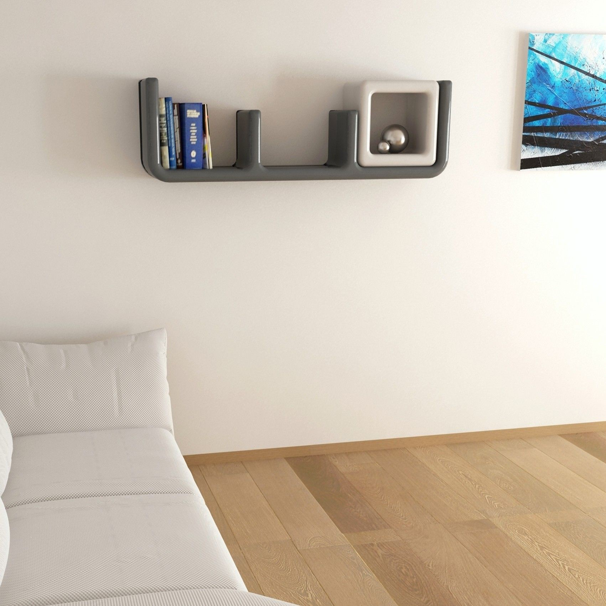 Atlante mensola da parete design in adamantx 150 cm - Mensole da parete design ...