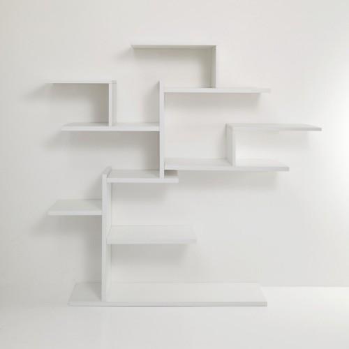 Libreria ad albero Plane Tree da parete in legno bianco 150 x 160 cm