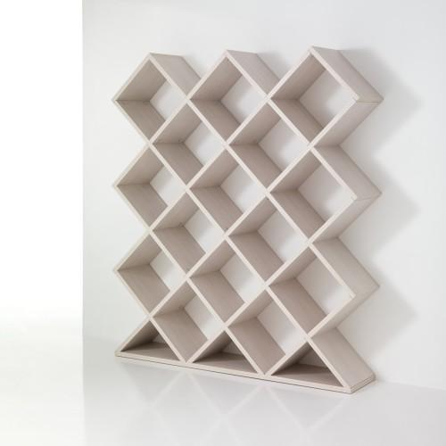 Libreria separa ambienti in legno bianco 140 x 160 cm MyNest