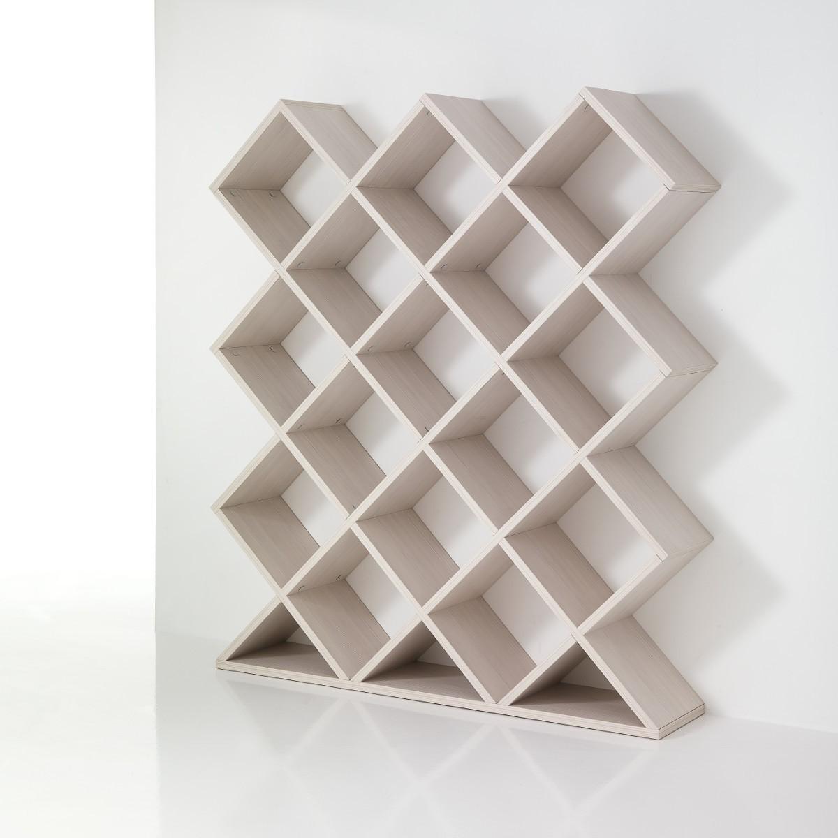 Libreria separa ambienti mynest in legno bianco 140 x 160 cm for Scaffali libreria in legno