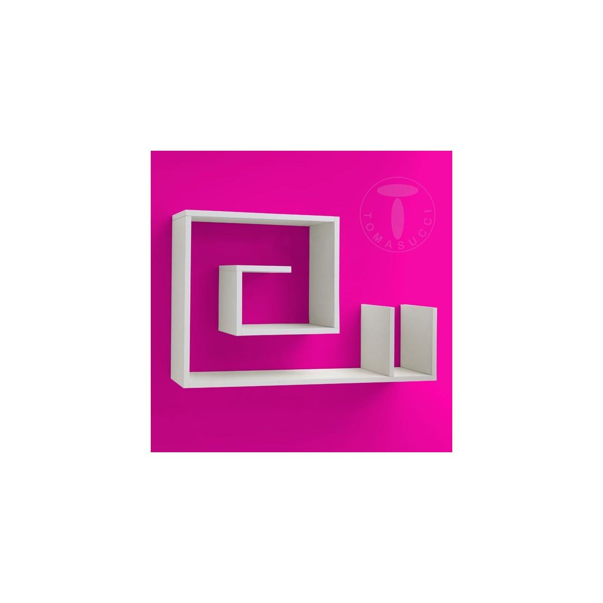 Mensola da parete forma di chiocciola bianca karakolb - Mensole da parete design ...