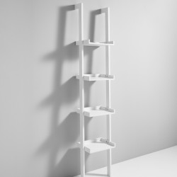 Librerie da parete a colonna in legno bianco 35 x 180 cm Bergen