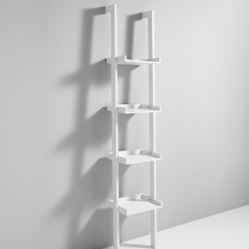 Librerie da parete a colonna Bergen in legno bianco 35 x 180 cm