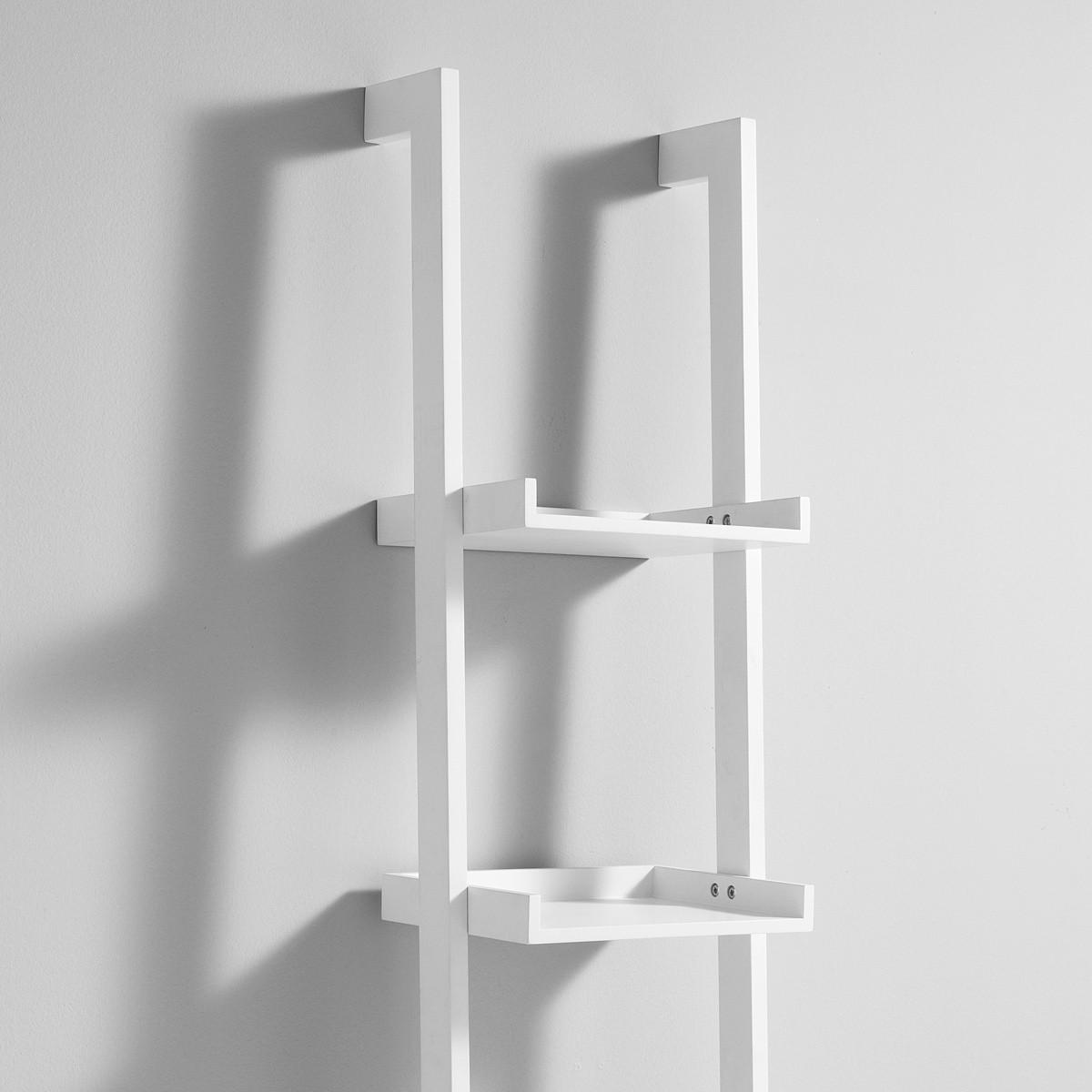 librerie da parete a colonna bergen in legno bianco 35 x 180 cm. Black Bedroom Furniture Sets. Home Design Ideas