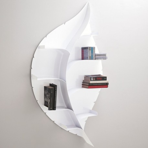 Blatt libreria a parete design moderno in metallo bianca for Libreria a muro bianca