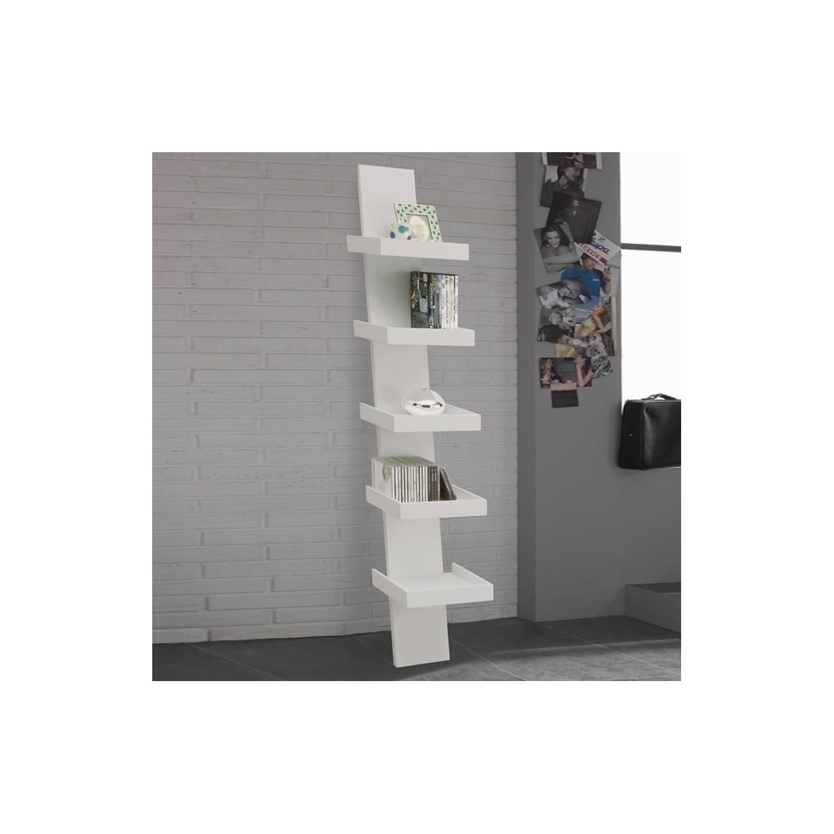 Climbing libreria da parete in legno economica 30 x 155 cm for Libreria bianca economica