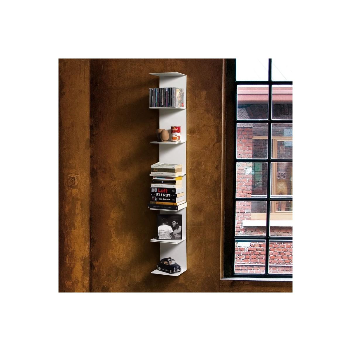 Libreria motusmentis ghost da parete in acciaio bianco 20 - Mensole da parete design ...