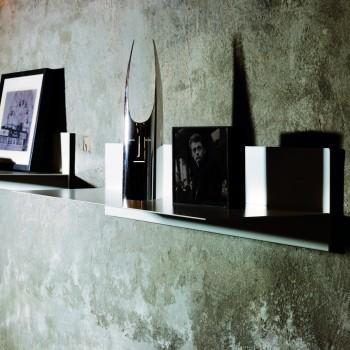 Mensola a muro Linea in acciaio 100 cm Bianco Nero Grigio Ruggine