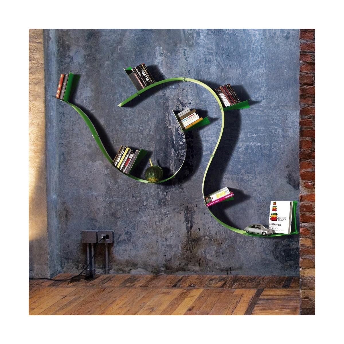 libreria flessibile wallboardingb motusmentis in acciaio
