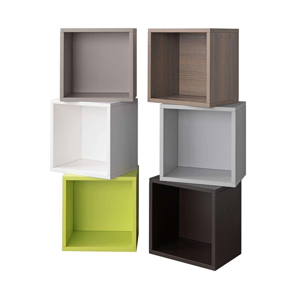 Contenitore cubo libera in legno laminato per arredo 35 x for Librerie in legno componibili